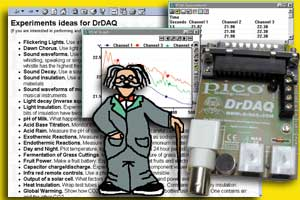 DrDAQ data logger, supplied with sensors, software and science experiments